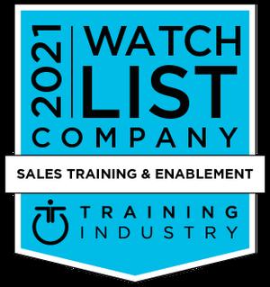 Training Industry Sales Training Watchlist Award 2021