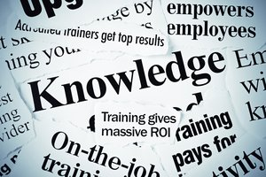 Newspaper headlines focused on knowledge and training for employees